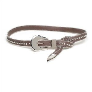 B-low the Belt Barcelona Studded Chocolate Silver